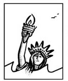 Depiction of Liberty Drowning.